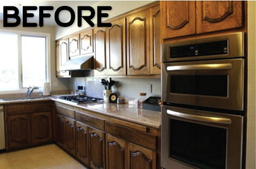 Easy Way Paint Old Kitchen Cabinets Without Sanding